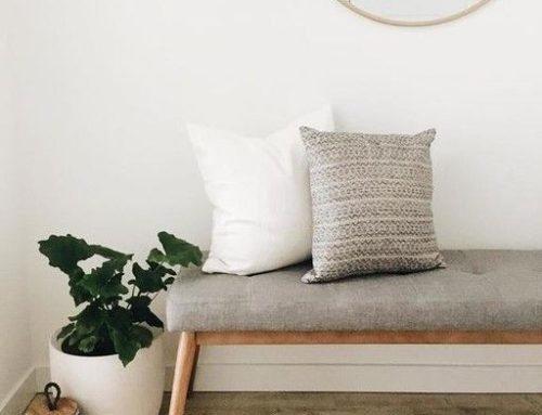 Styling a bench in the hallway